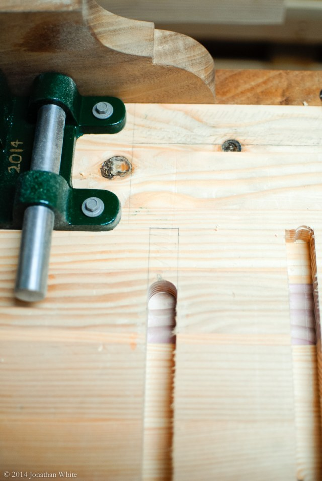 The base plate on the router wouldn't let me get all the way to the end of the dado.