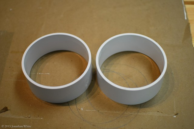 After sanding, one coupling yields two pieces.