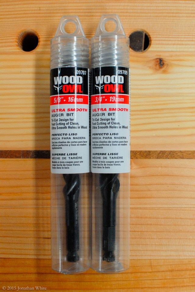 The WoodOwl Ultra Smooth Auger Bits that I already owned.