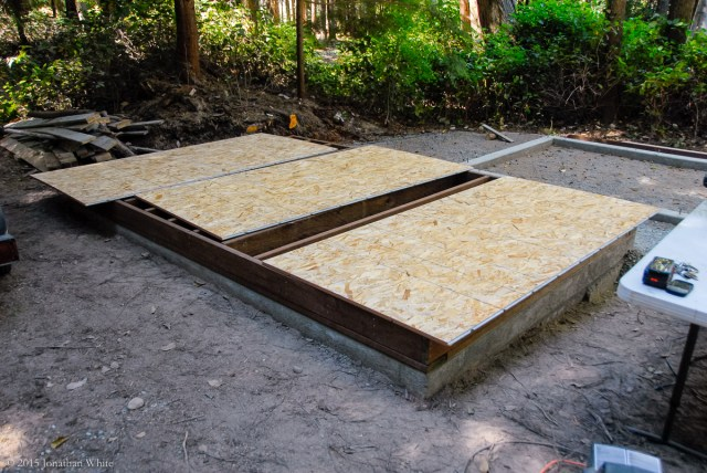 When dry, I flipped the OSB over and installed it.
