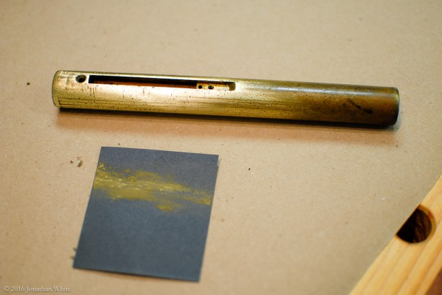 I started cleaning the stem with 320 grit paper.