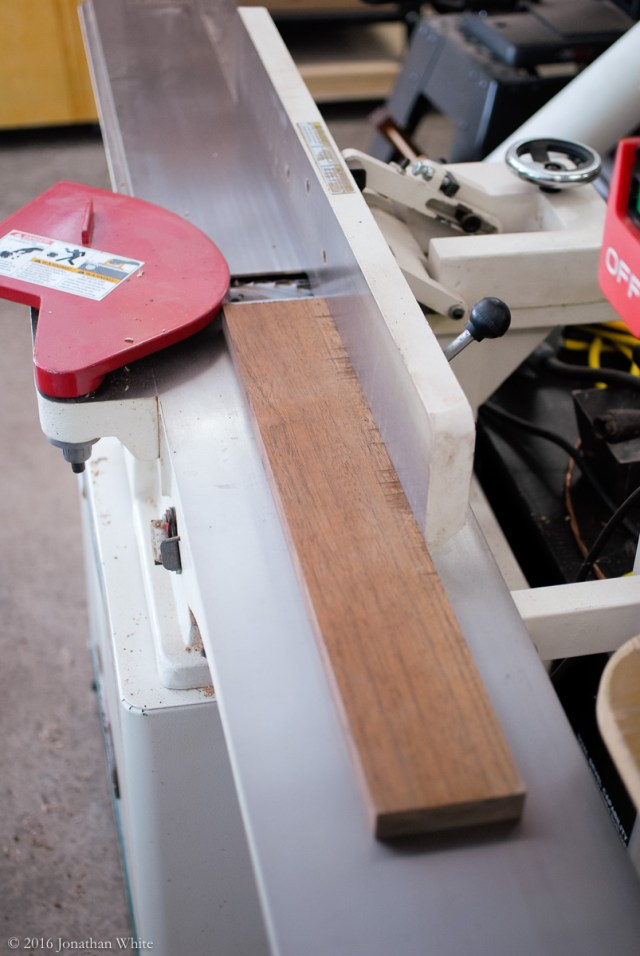 This piece is small enough for the jointer.