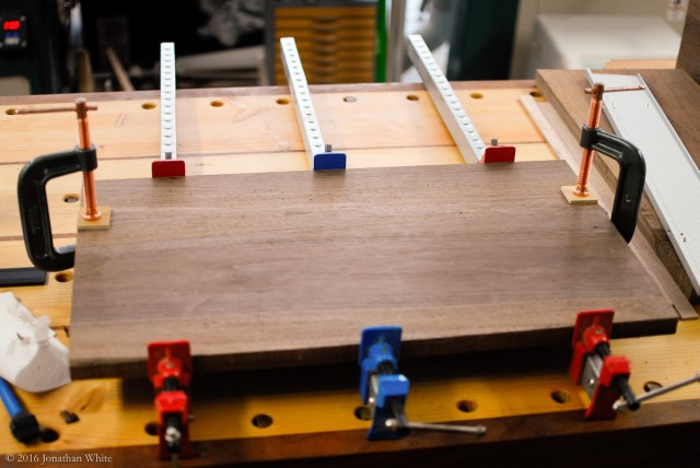 Glued and clamped overnight.