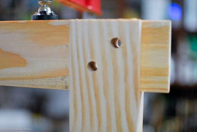 Holes drilled.