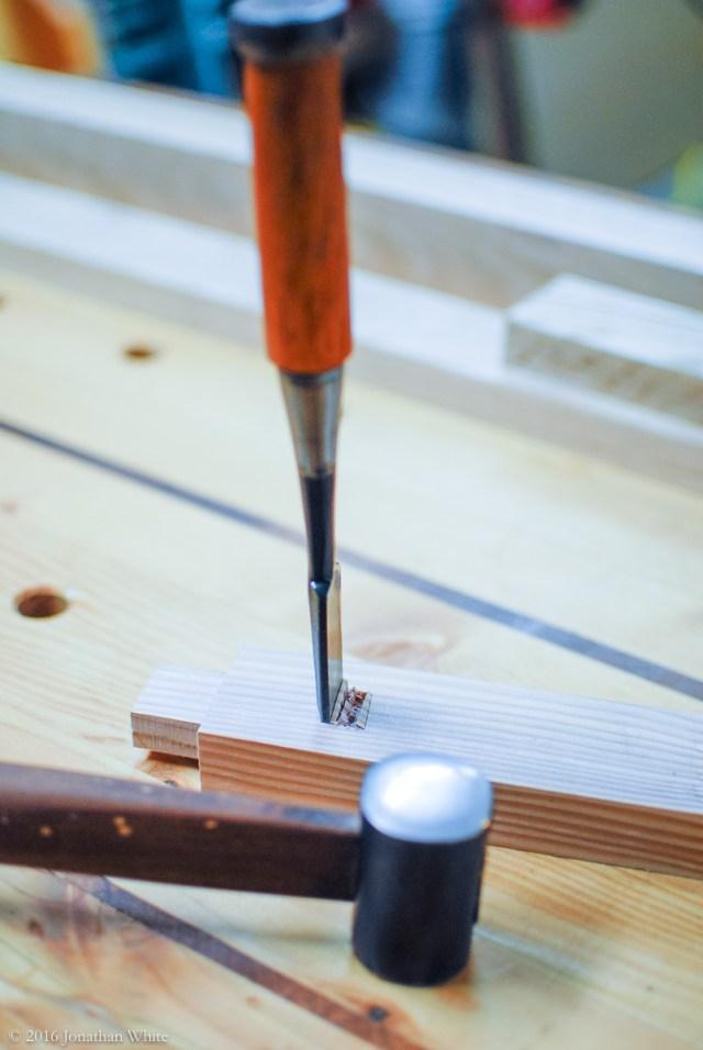 I gave the hammer test drive in some scrap douglas fir.