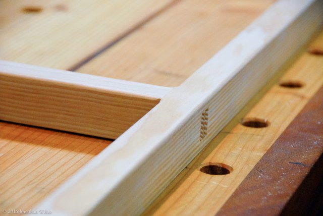"Quick round-over using the laminate trim router and a ⅛"" round-over bit."