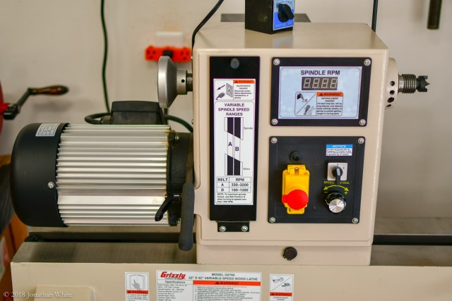 It has a 3-HP, 3-phase motor with a variable frequency drive.