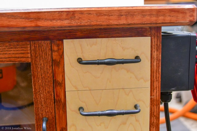 """This top """"drawer"""" wasn't in the New Yankee plans."""