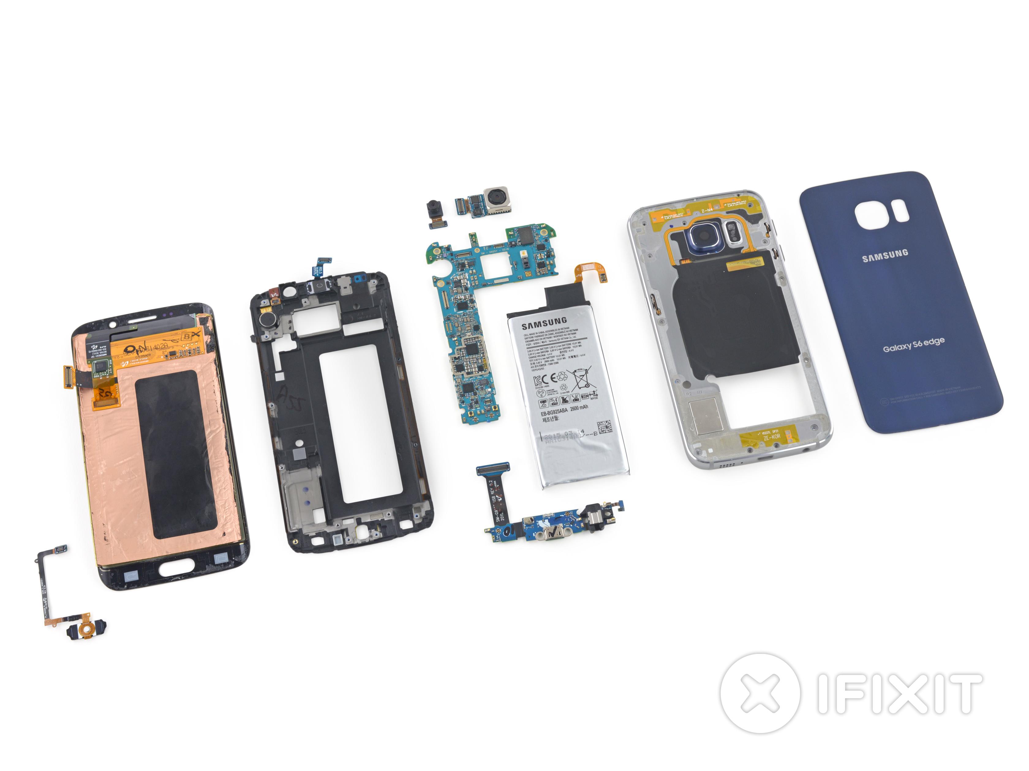 iFixit:Samsung GALAXY S6 Edge 已被我們解體