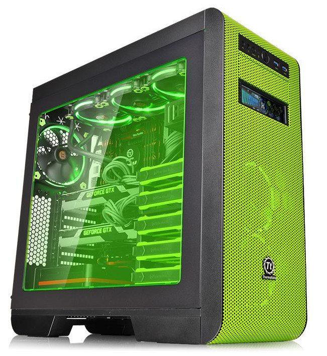 Thermaltake revela la caja Core V51 Riing Edition Window Green