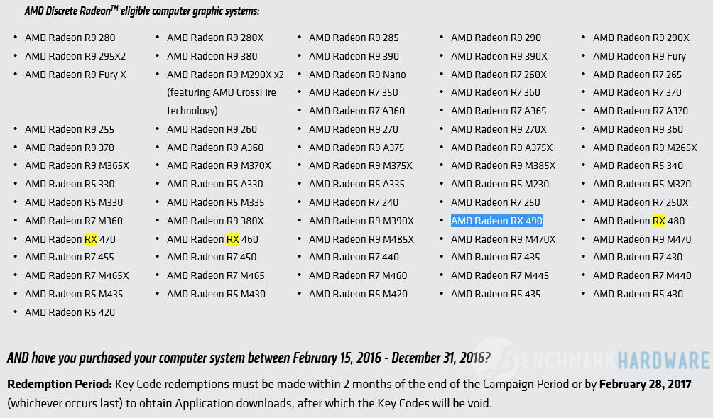 Primera aparición de la AMD RX 490