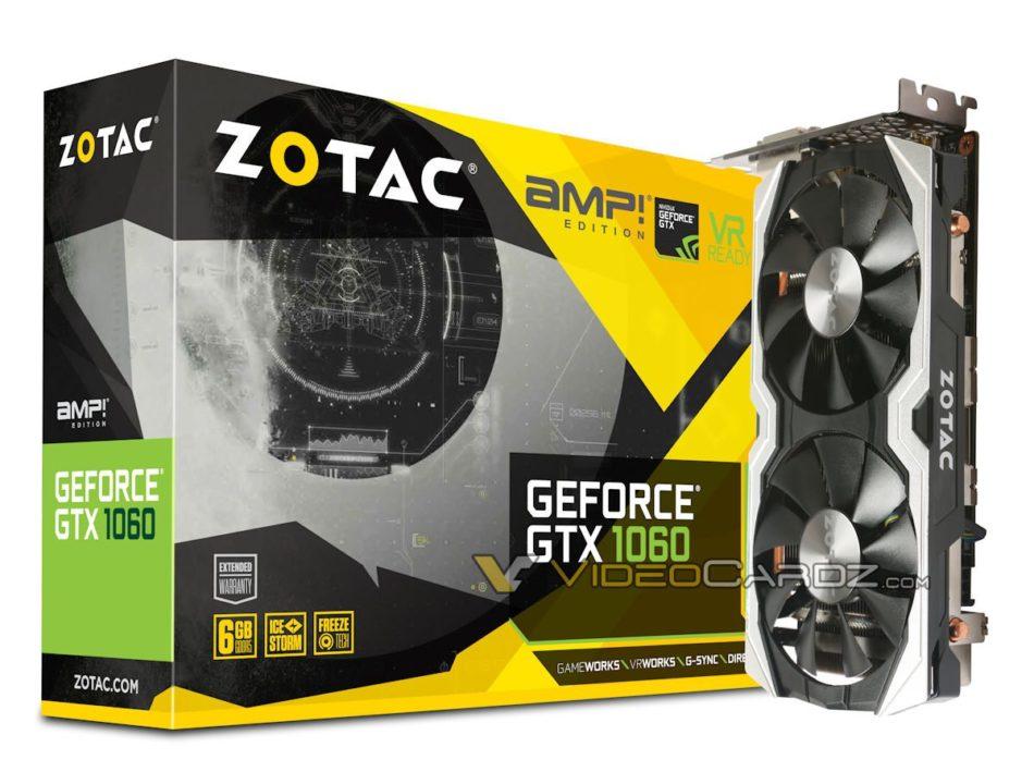 ZOTAC muestra sus modelos para la GTX 1060