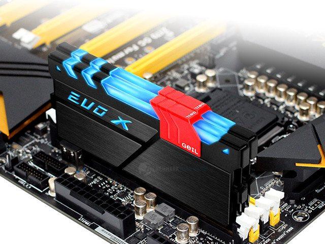 Los kits DDR4 EVO X con iluminación RGB de GEIl ya están disponibles