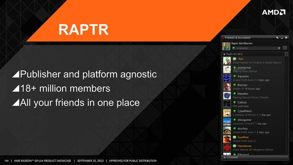 AMD Gaming Evolved APP de Raptr dejará de recibir el soporte de AMD