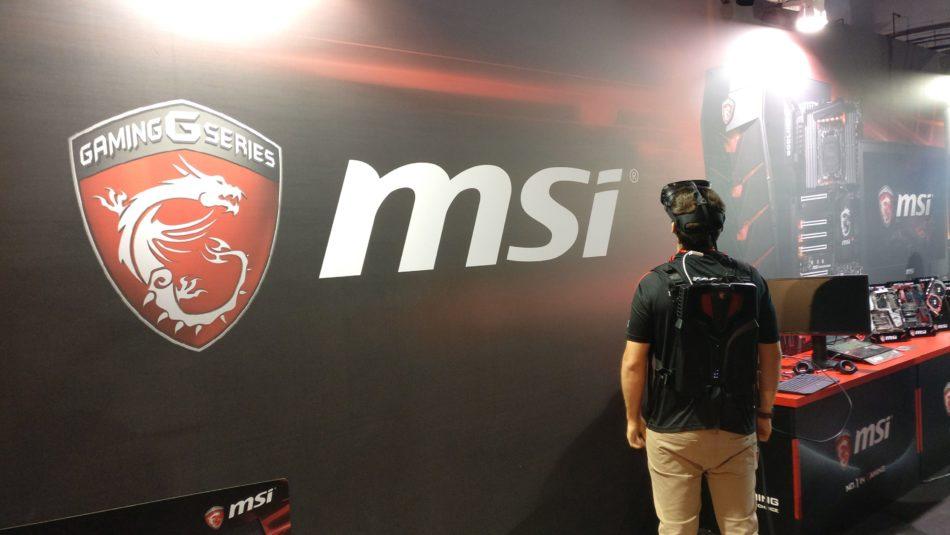 MSI apuesta por la realidad virtual en Barcelona Games World