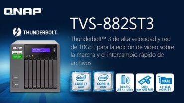 QNAP lanza el NAS TVS-882ST3 con Thunderbolt 3