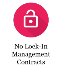 No lock-in contract property managers
