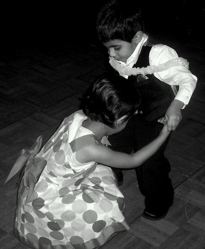 """A lovely image of two kids dancing, again for """"Dancing Feet"""""""