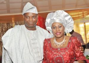 Mr. Olagunju and wife, Seun
