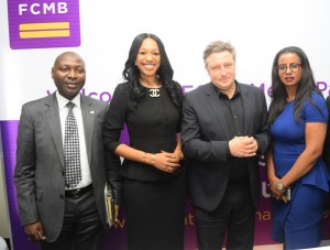 Pix 8403: From left: The Executive Director, Institutional Banking of First City Monument Bank (FCMB), Mr. Femi Bakre; the Divisional Head, Human Resources and Change Management, Felicia Obozuwa; UK's Most Prestigious Television Media Award Winner/Guest Speaker, Mr. Inigo Gilmore and the Bank's Group Head, Corporate Communications, Uchenna Mojekwu, during a media parley/workshop organised for Online Journalists by FCMB on September 29, 2015 in Lagos.