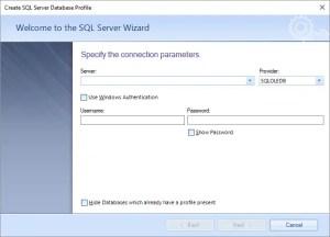 Add SQL Server in Bendani Data Migrsator