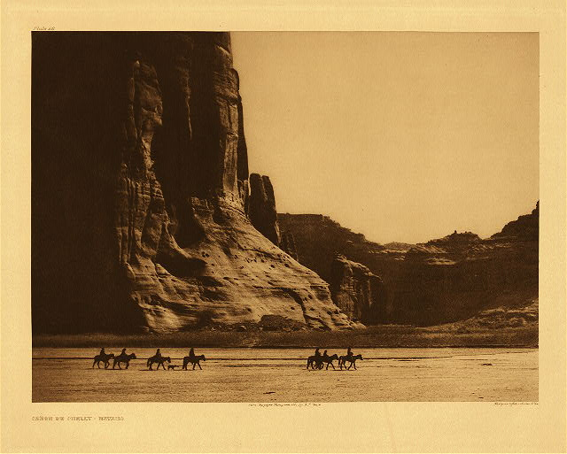 Cañon de Chelly - Navaho by Edward S. Curtis. 1904.