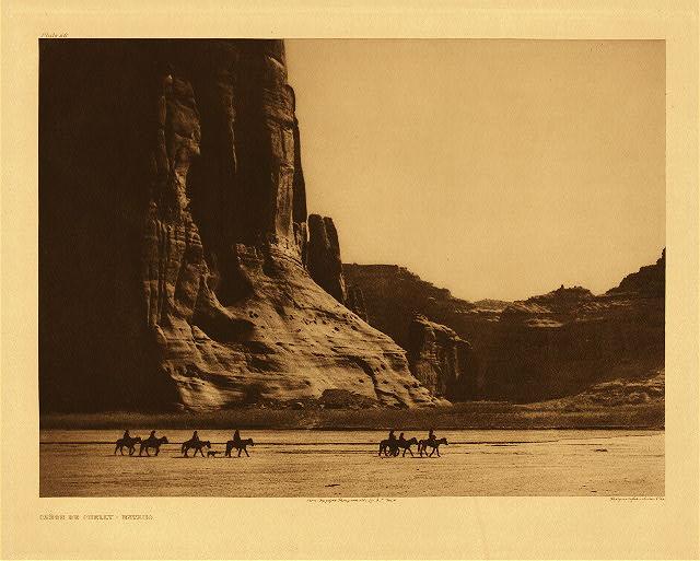 Cañon de Chelly - Navaho by Edward S. Curtis. 1904.