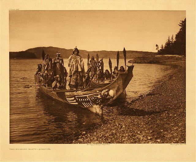 Wedding party - Qagyuhl by Edward S. Curtis. 1914.