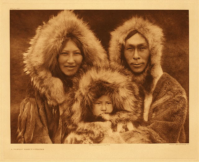 A Family Group - Noatak by Edward S. Curtis.