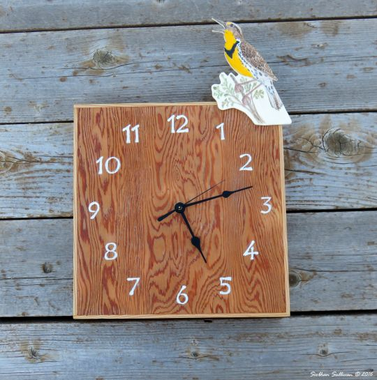 Meadowlark time - Western Meadowlark Clock