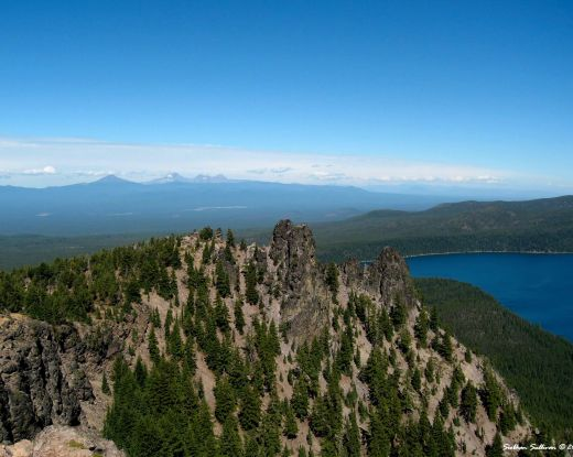 Newberry National Volcanic monument Paulina Peak