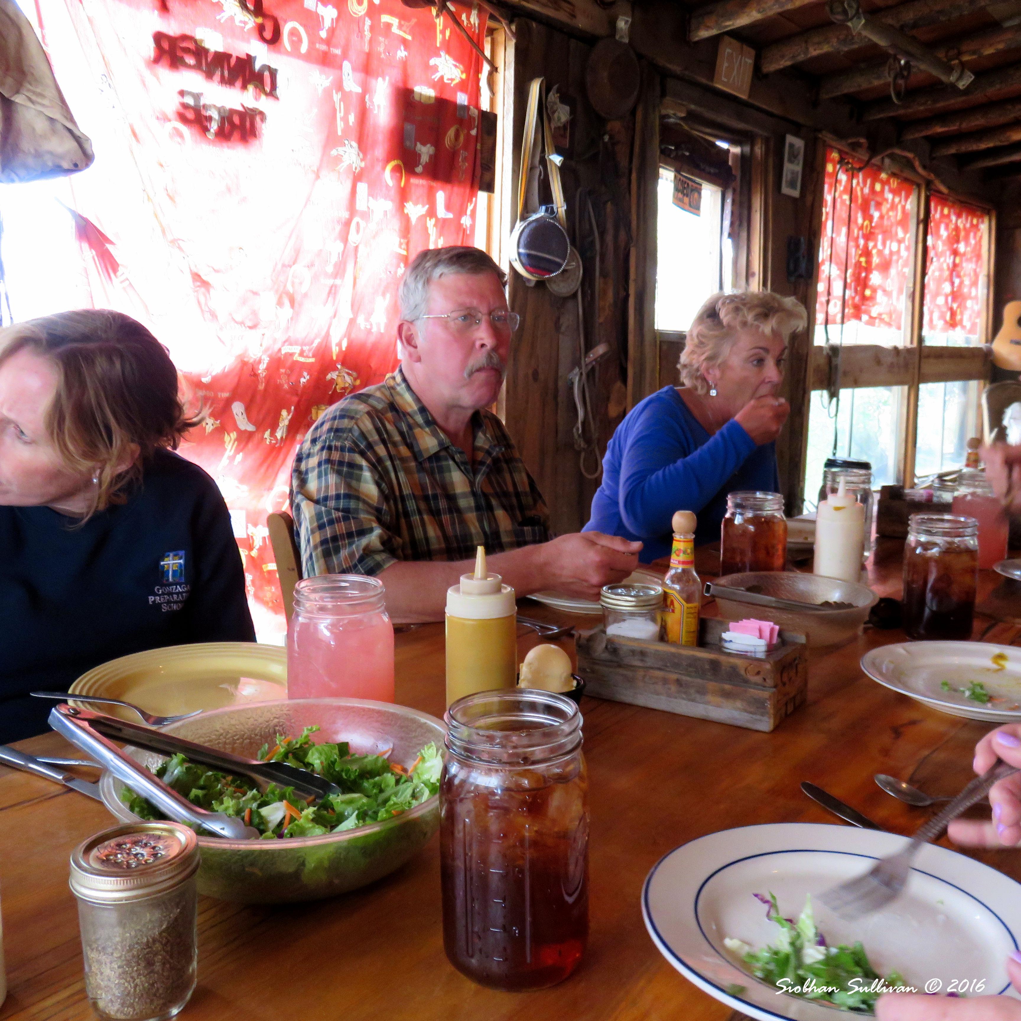 Salad and group table