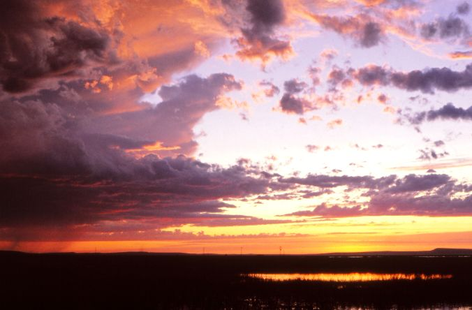 Malheur moment Benson Boat Landing Sunset at Malheur NWR May1982 SiobhanSullivan