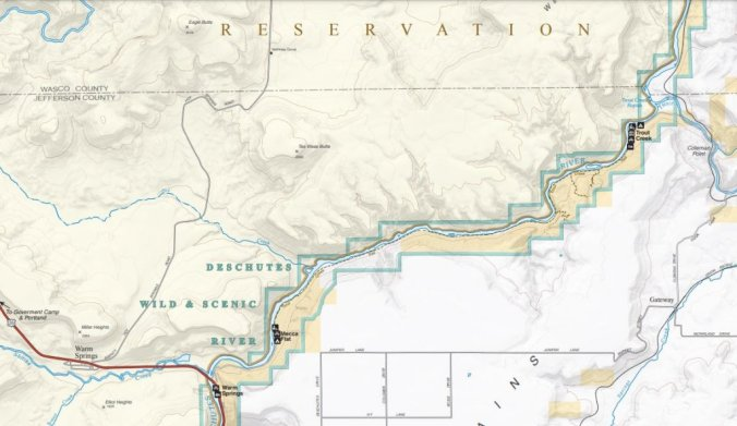 Trout creek vicinity map