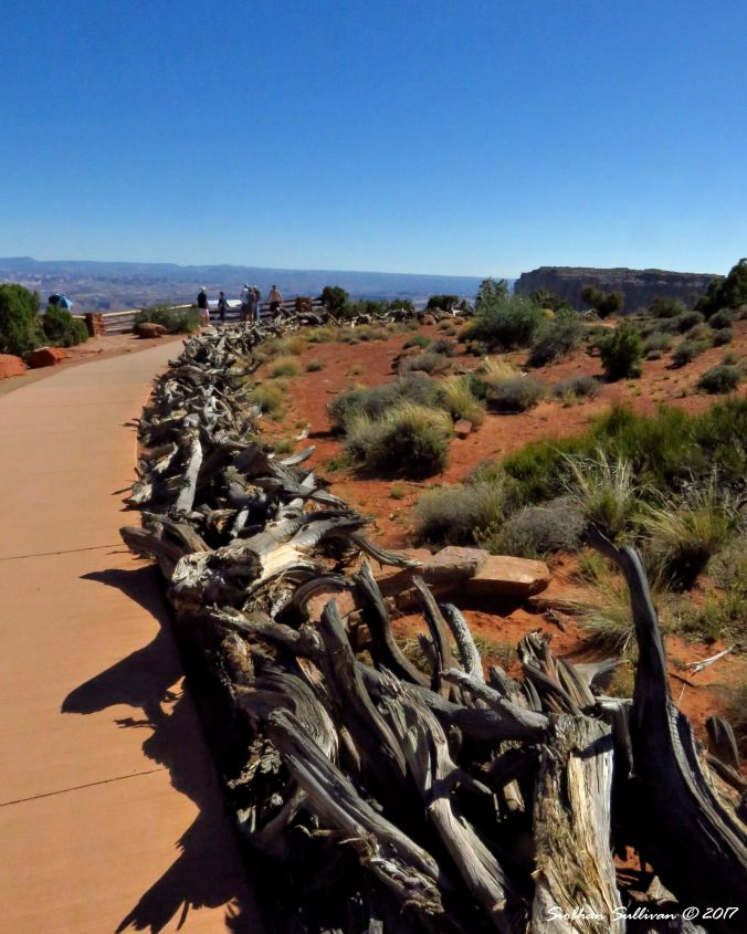A fence along the trail in Canyonlands National Park, Utah 4May2017