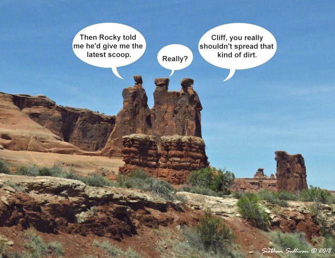 Fun photos: The Three Gossips at Arches National Park, Utah October 2018