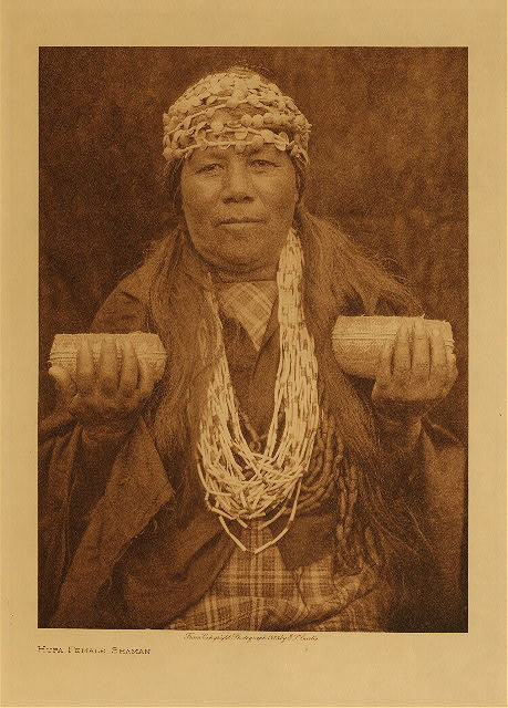 Hupa Female Shaman by Edward S. Curtis