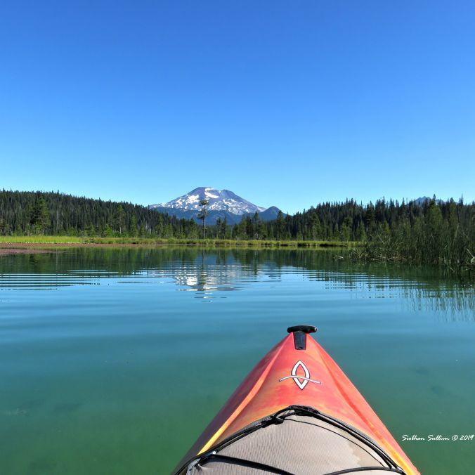 Mt Bachelor from Hosmer Lake 9August2016