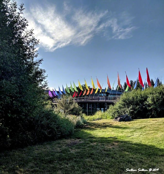 Rainbow flag bridge, Bend, Oregon 21June2019