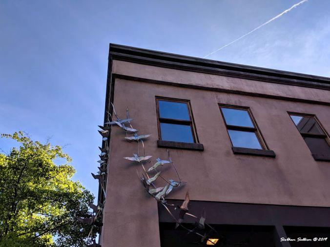 Different angles Bird sculpture, Bend, Oregon 17August2019