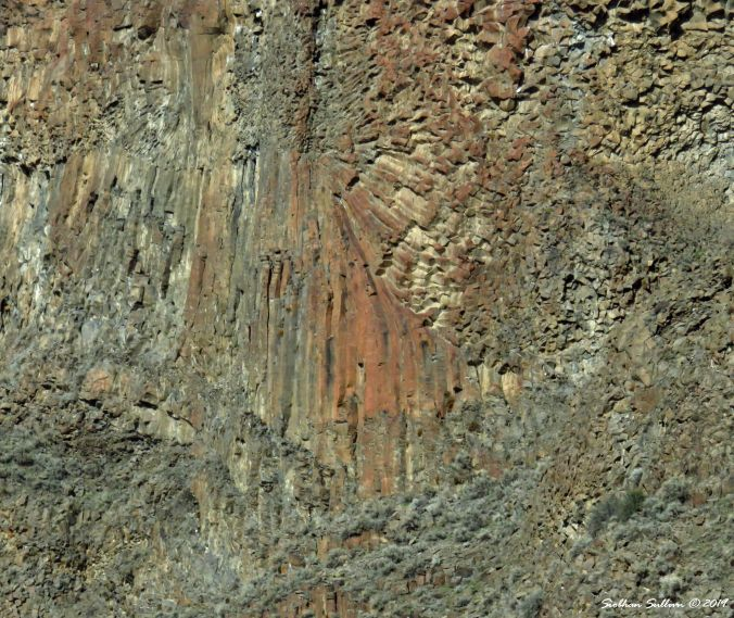 Different angles basalt at Cove Palisades Park, Oregon 25February2017