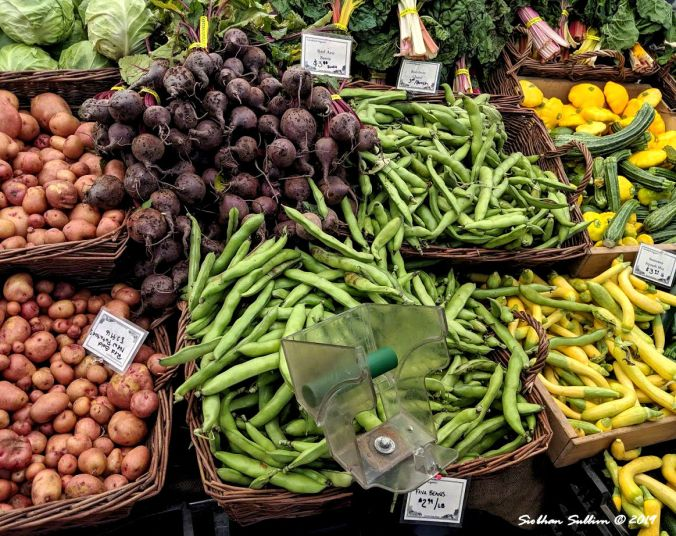 Summer's bounty, Bend, Oregon Vegetables at a farmer's market 19 June 2019