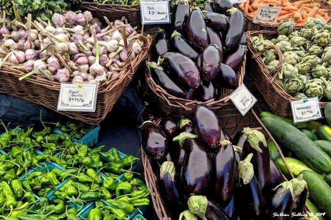 Summer's bounty, Bend, Oregon farmer's market 19 June 2019