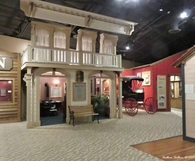 Mock up a pioneer town, Gorge Discovery Center,The Dalles, Oregon 16October2017