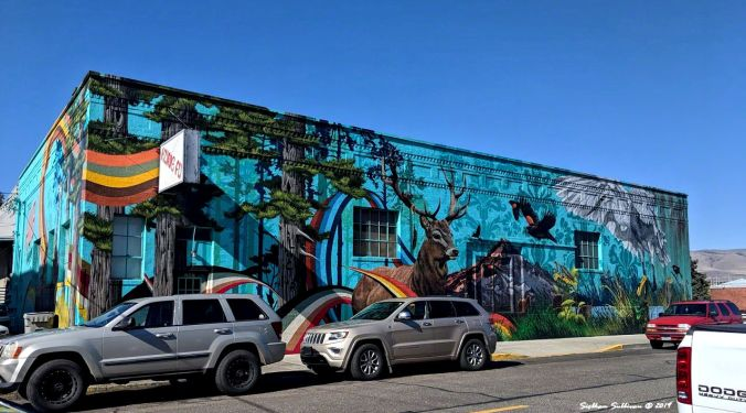 Magnificent mural in The Dalles, Oregon October 2019