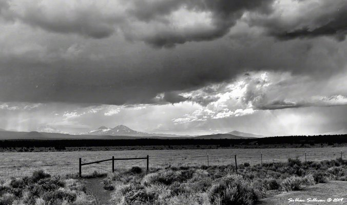 A black & white world, A storm brewing near Sisters, Oregon August 2019