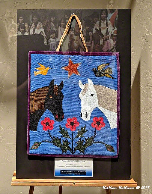 Beaded bag with horses, & birds, flowers,  Warm Springs, Oregon 25 October2019