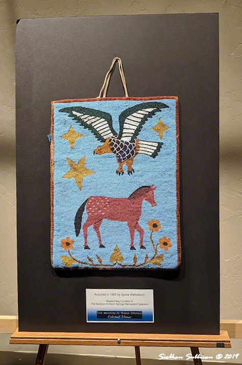 Horse & eagle beaded bags, Warm Springs, Oregon 25 October2019