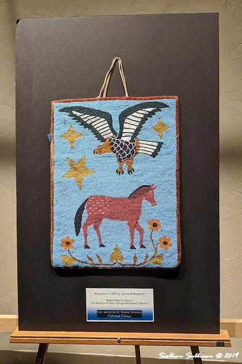 Horse & eagle beaded bags, Warm Springs, Oregon 25 October2019