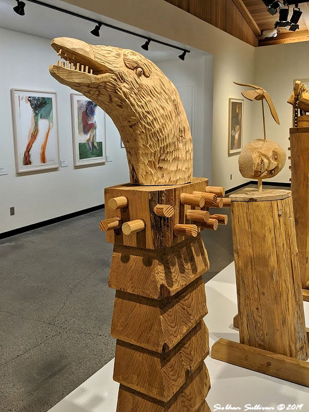 Woodcarvings by Rick Bartow, High Desert Museum February 2019